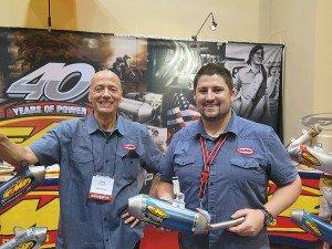 FMF Racing's Doug Muellner (left) and Brandon Hammontree.